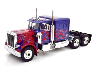 Peterbilt 359 blue metallic/red 1:18 Road Kings