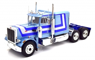 Peterbilt 359 1967 light blue metallic/blue/silver 1:18 Road Kings