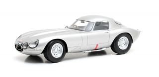 Jaguar E-Type Low Drag Coupe 1963 silver 1:18 Cult Scale Models