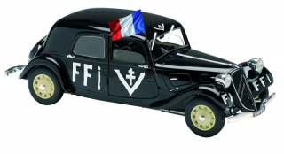 Citroen Traction 11 B FFI 1944 black 1:18 Solido
