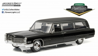 Cadillac S&S Limousine 1966 black 1:18 Greenlight Precision Collection