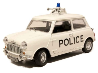 Morris Mini Cooper Police UK white 1:18 Kyosho