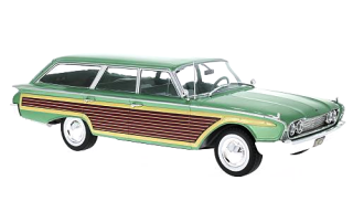 Ford Country Squire green/wooden with roof rails 1960 1:18 MCG Modelcar Group