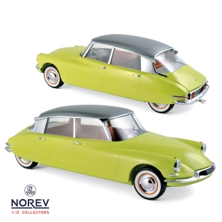 Citroen DS 19 1956 yellow/green 1:12 Norev