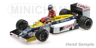 Williams Honda FW 11 K.Rosberg riding on N.Piquet German GP 1986 1:18 Minichamps