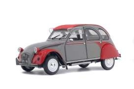 Citroen 2CV6 Dolly 1985 grey/red 1:18 Solido