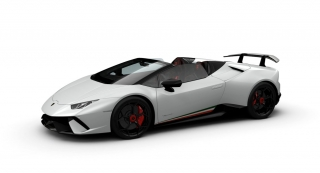 Lamborghini Huracan Performante Spyder  Bianco Monocerus 1:43 Look Smart Models