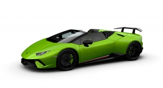 Lamborghini Huracan Performante Spyder Verde Mantis 1:43 Look Smart Models
