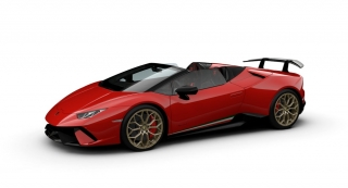 Lamborghini Huracan Performante Spyder Rosso Mars 1:43 Look Smart Models