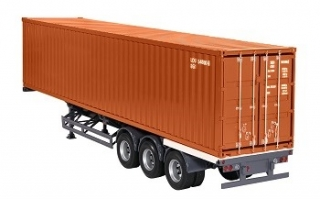 Trailer and container 40 ft brown 1:18 NZG