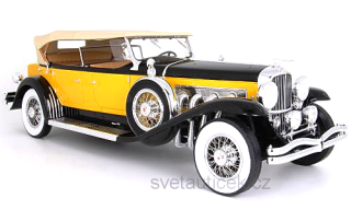 Duesenberg Model SJ Tourster Derham 1932 yellow/black 1:12 Premium ClassiXXs