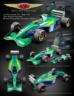 Jordan 191 #32 Team 7UP Belgian Gran Prix 1991 1:8 Real Art Replicas