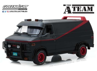 GMC Vandura *A Team Van* with opening parts 1983 grey/black 1:18 Greenlight