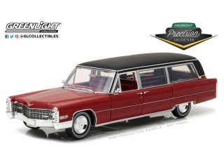 Cadillac S&S Limousine 1966 red with black vinyl roof 1:18 Greenlight Precision Collection