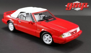 Ford Mustang LX Convertible 1992 red with white interior 1:18 G.M.P.