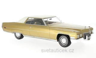 Cadillac Coupe Deville 1972 gold/white 1:18 Bos Models
