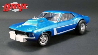 Mustang Gasser The Boss 1969 blue 1:18 G.M.P