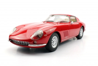 Ferrari 275 GTB/4 with alloy wheels 1966 red/tan interior 1:12 Top Marques Collectibles