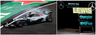 Mercedes W09 #44 L.Hamilton F1 World Champion 2018 1:18 Spark