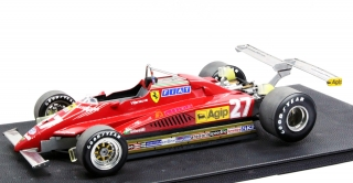 Ferrari 126 C2 #27 Gilles Villeneuve Long Beach GP 1982 Twin Rear Spoiler 1:12 GP Replicas