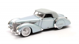 Delahaye 145 V12 ch.48772-3 Franay Cabriolet 1946 Closed Roof light blue metallic 1:43 Matrix Scale Models