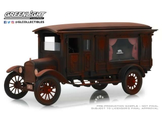 Ford Model T Ornate Carved Hearse Unrestored Barn Find 1:18 Greenlight Precision Collection