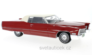 Cadillac Deville Coupe 1967 red/white 1:18 BoS Models