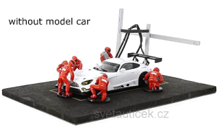 Set Pit Stop *6 figures with Decals and Accessories* red 1:43 Ixo Models