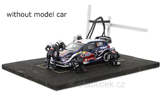 Set Pit Stop *6 figures with Decals and Accessories* blue 1:43 Ixo Models