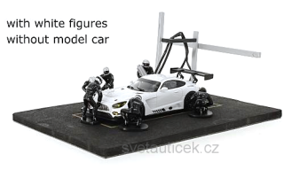 Set Pit Stop *6 figures with Decals and Accessories* white 1:43 Ixo Models