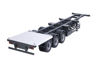 Semitrailer international for containers 1:18 NZG