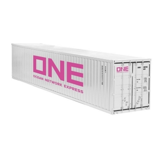 40 ft sea container *One* white 1:18 NZG