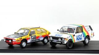 Set Rally Paris Dakar - Renault R20 Winner 1982/ Land Rover Range Winner 1981 1:18 Top Marques