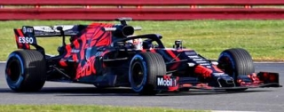 Aston Martin Red Bull Racing M.Verstappen Test Car Silverstone Circuit 2019 1:43 Spark