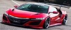 LB-Works NSX Candy red 1:18 GT Spirit