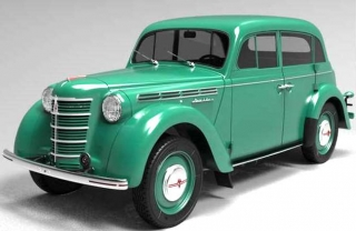 Moskvich 400-420 1946 green 1:18 Premium Scale Models