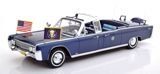 Lincoln Continental X100 J.F. Kennedy 1961 dark blue metallic 1:18 CMF