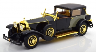 Rolls Royce Phantom 1 Riviera Town Brougham by Brewster & Co. 1929 black/gold 1:18 CMF