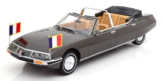 Citroen SM Presidentielle by Chapron Georges Pompidou 1972 grey metallic 1:18 CMF