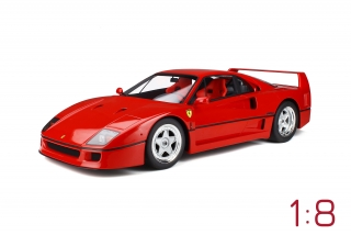 Ferrari F40 Rosso Corsa with showcase 1:8 GT Spirit