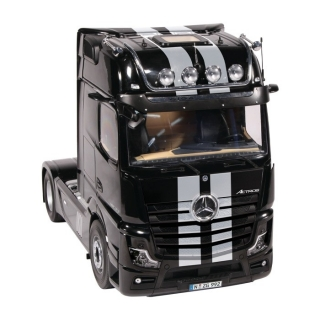 Mercedes-Benz ACTROS GigaSpace 4x2 with Camera 2019 black/stripes 1:18 NZG