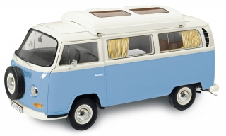 Volkswagen T2a Camping Bus blue/white 1:18 Schuco