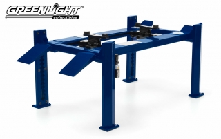 Metal 4-Post Service Lift blue 1:18 GreenLight