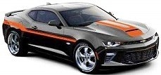 Yenko Chevrolet Camaro Coupe 2018 mosaic black/orange stripe 1:18 Auto World
