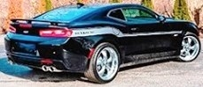 Yenko Chevrolet Camaro Coupe 2018 black/silver stripe 1:18 Auto World