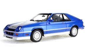 Dodge Shelby Charger Turbo 1985 blue with silver stripe 1:18 LS Collectibles