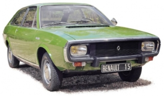 Renault 15 TL 1973 light green metallic 1:18 Norev
