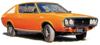 Renault 17 TL 1973 orange 1:18 Norev