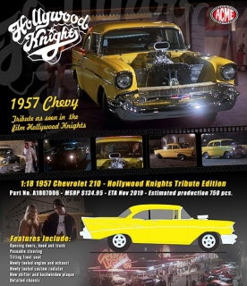 Chevrolet 210 Hollywood Knights Tribute Edition 1957 yellow 1:18 Acme Diecast