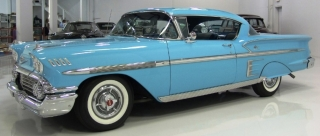 Chevrolet Bel Air Impala 1958 cashmere blue 1:18 Auto World